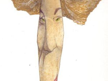 Caricatura de la escritora Margaret Atwood