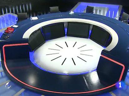 Plató en el que se celebrará el debate a cinco.