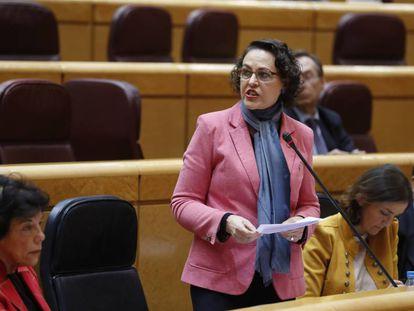 La ministra de Trabajo, Magdalena Valerio, en el Senado