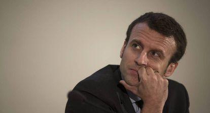 Emmanuel Macron, en la Universidad Humboldt de Berlín, el pasado martes.