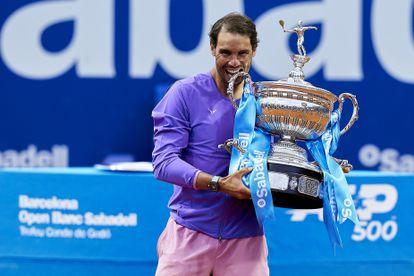 BARCELONA, SPAIN - APRIL 25:  Rafael Nadal of Spain ATP Barcelona Open Banc Sabadell at the Real Club de Tenis Barcelona on April 25, 2021 in Barcelona, Spain. (Photo by Pedro Salado/Quality Sport Images) PEDRO SALADO 25/04/2021