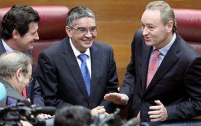 Alberto Fabra, ayer en el pleno de las Cortes Valencianas.