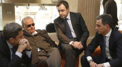 Rambla, Cotino, Serra y Costa en 2009. Todos están imputados por la financiación ilegal salvo Cotino, rodeado sin embargo de escándalos.
