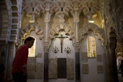 Motivos religiosos en el interior de la Mezquita-Catedral de Córdoba, uno de los principales bienes inmatriculados por la Iglesia.