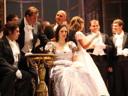 Un momento de 'La traviata' en el festival de Priego de Córdoba.