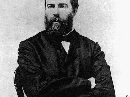 El escritor Herman Melville (hacia 1880).