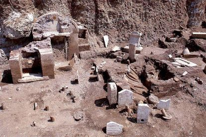 La necrópolis descubierta en 2003 en El Vaticano.