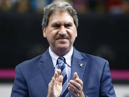 Haggerty, presidente de la Federación Internacional de Tenis, en noviembre pasado.