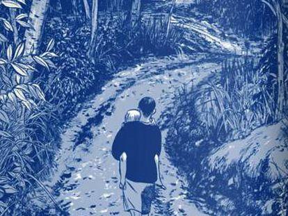 Una página de 'Aquel verano', cómic de Mariko Tamaki, una de las obras que más quejas anuales genera en EE UU.