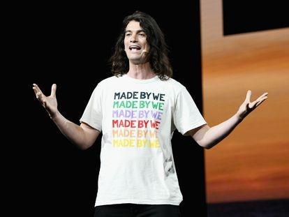 Adam Neumann, durante una conferencia en el Teatro Microsoft de Los Ángeles, en 2019.