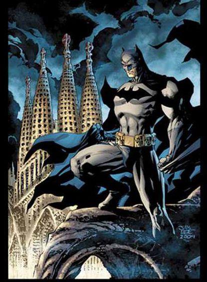 Portada de Jim Lee para <i>Batman en Barcelona</i>, <b>que publicarán DC y Planeta</b>