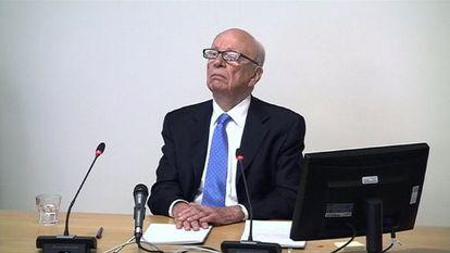 Rupert Murdoch, durante su declaración en la comisión Leveson el pasado jueves.