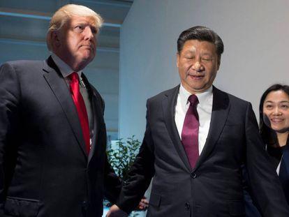 El presidente de Estados Unidos, Donald Trump, y el presidente de China, Xi Jinping, en 2017.