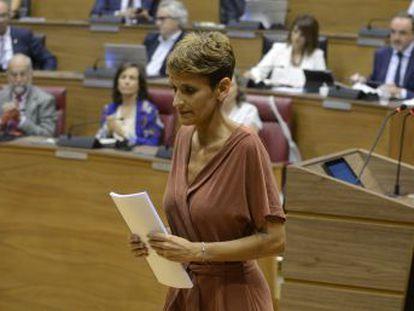 La socialista será previsiblemente presidenta de la región este viernes con la abstención de EH Bildu