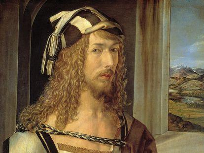 'Autorretrato', de Alberto Durero (1498, Madrid, Museo del Prado).