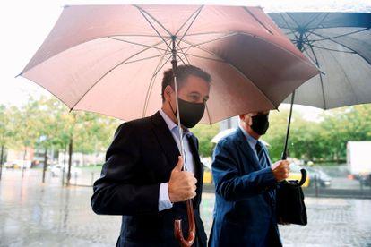 El expresidente del FC Barcelona Josep Maria Bartomeu, a su llegada a la Ciudad de la Justicia de Barcelona para declarar por las calumnias derivadas del caso 'Barçagate'.