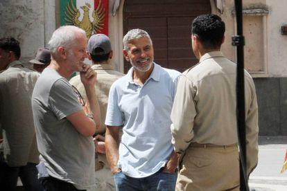 George Clooney durante el rodaje de la serie 'Catch-22' en Sutri, el pasado 20 de julio..