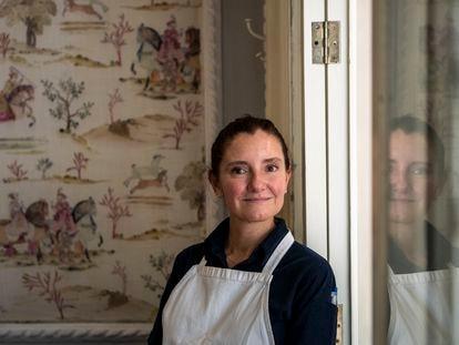 La chef mexicana Elena Reygadas posa en el restaurante Rosetta de Ciudad de México.