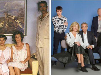 Evolución de los personajes de 'Cuéntame'. 15 años separan a las dos imágenes.