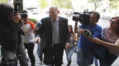 El juez Elpidio José Silva en los juzgados de la plaza de Castilla