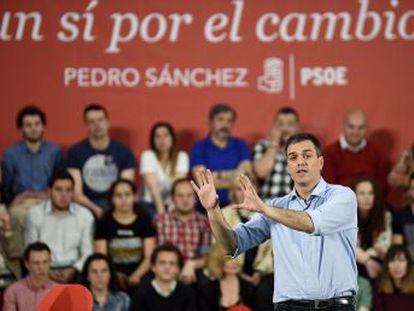 El candidato socialista atribuye la tendencia en las encuestas, que  no tienen que ser una profecía , a que su partido  es el que más ha trabajado para lograr un cambio