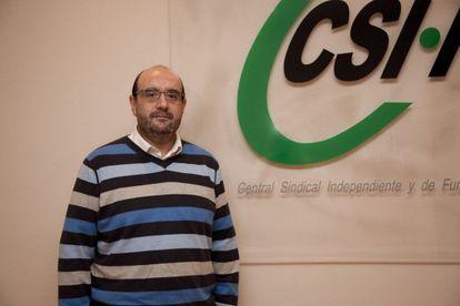 Miguel Borra presidente del CSI-F sindicato de funcionarios foto
