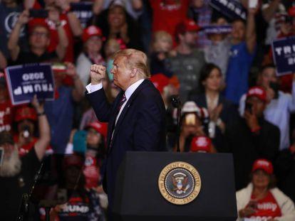 Trump, en un mitin en Las Vegas.