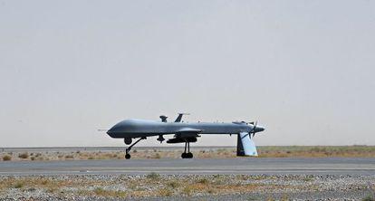 Un drone en el aeropuerto de Kandahar (Afganistán).