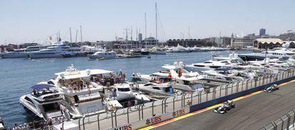 Circuito de F-1 de Valencia.