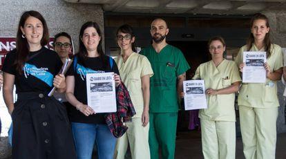 Personal sanitario protesta en Galicia contra la precariedad laboral.