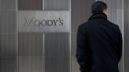 Fachada de la oficina de Moody's en Nueva York, en una imagen de archivo.