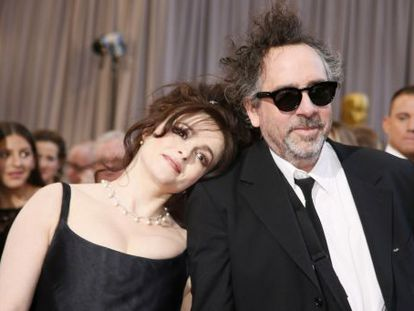 Tim Burton y Helena Bonham Carter.
