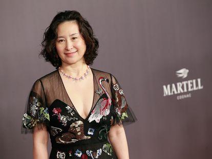 Pansy Ho, en la gala amfAR celebrada en Hong Kong en marzo de 2018