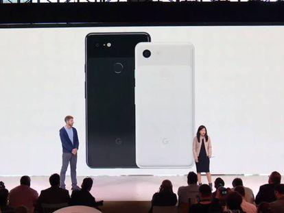 Presentación en Nueva York de los nuevos móviles de Google.