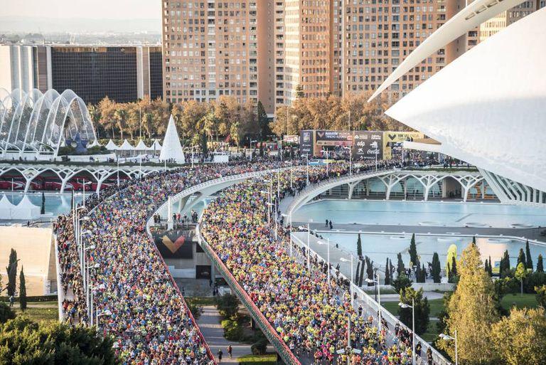 Aspecto del Maratón de Valencia en una de sus ediciones.