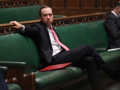 Matt Hancock, el pasado 9 de febrero, en la Cámara de los Comunes