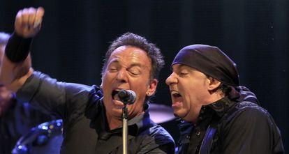 Springsteen durante su actuación de anoche en Sevilla