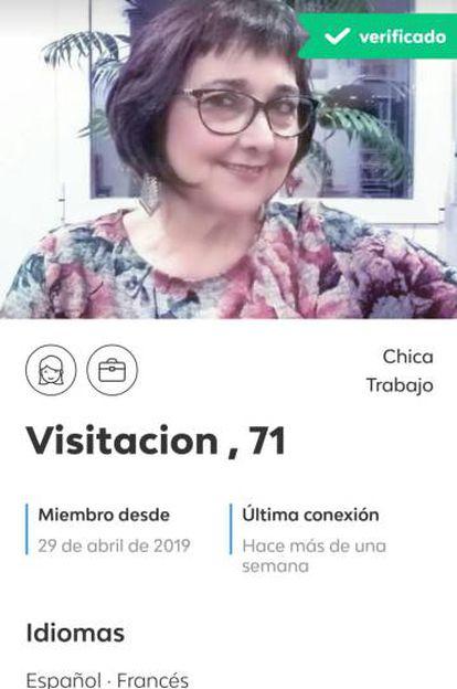 """A """"Visi"""" le ayudó a descargar la aplicación la chica que cuidaba de su tía, """"toda una experta en eso de manejar el teléfono"""""""