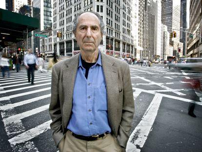 Philip Roth, en Nueva York, el 23 de mayo de 2007.