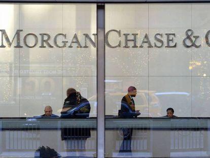 Sede de JP Morgan Chase en Nueva York.