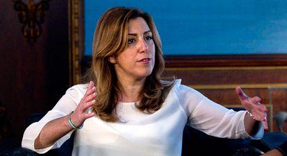 Susana Díaz tras anunciar que no presidirá el PSOE.