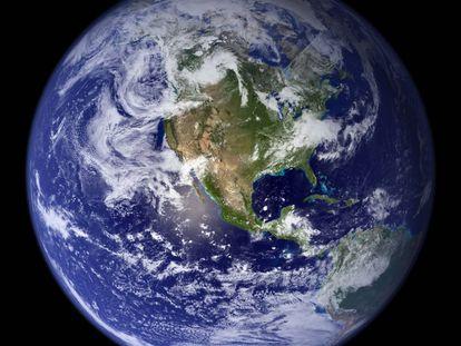 Imagen de la NASA de un hemisferio terrestre. / WIKIPEDIA
