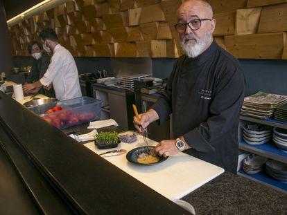 Ricardo Sanz en el restaurante Kabuki Wellington, en Madrid.