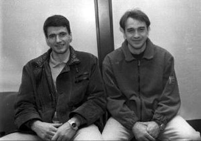 Perasovic y Laso, en 1995.