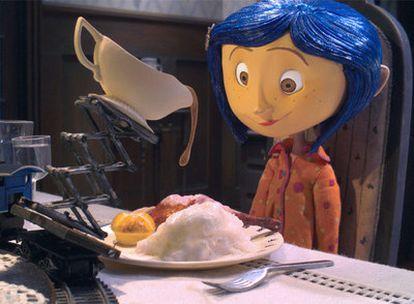 Coraline, en una imagen de la película <i>Los mundos de Coraline.</i>
