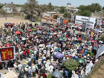 El  municipio Santiago Ixcuintla, Nayarit, durante una campaña electoral de Morena, en abril de 2018.