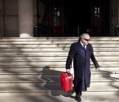 Fidel Pallerols saliendo del Palacio de Justicia de Barcelona.