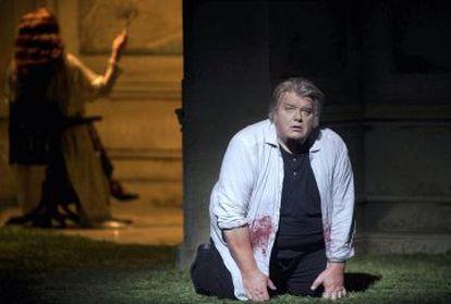 El tenor Christian Elsner, en 'Parsifal' en el Real.