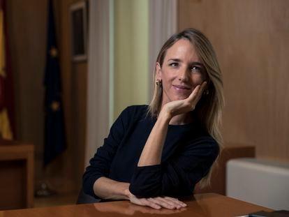 La portavoz del PP en el Congreso, Cayetana Álvarez de Toledo, en su despacho del Congreso en octubre del año pasado.