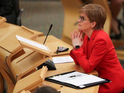 La ministra principal de Escoica, Nicola Sturgeon, el pasado martes en el Parlamento Autónomo